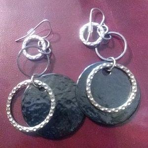 1980s Circle Earrings